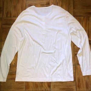Old Navy Shirts - White long sleeve henley shirt